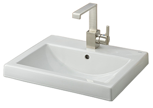 Cheviot 1190-WH-8 CAMILLA Semi-Recessed Basin, White Sink