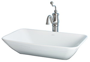 Cheviot 1274-WH ELEMENT Vessel Sink, White Sink