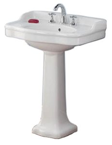 Cheviot 350/22-WH-1 ANTIQUE Pedestal Sink, White Sink