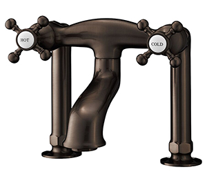 Cheviot 5142-AB Deck Mount Tub Filler - Extra Tall, Antique Bronze Faucet